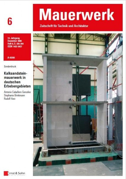 KS-Mauerwerk in deutschen Erdbebengebieten