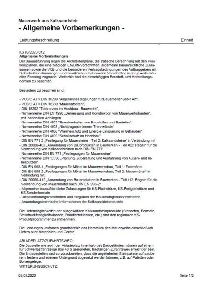 Muster-Ausschreibungstexte | RTF-Dateien