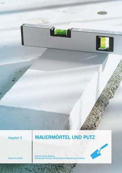 Mauermörtel und Putz | Planungshandbuch Kap. 05