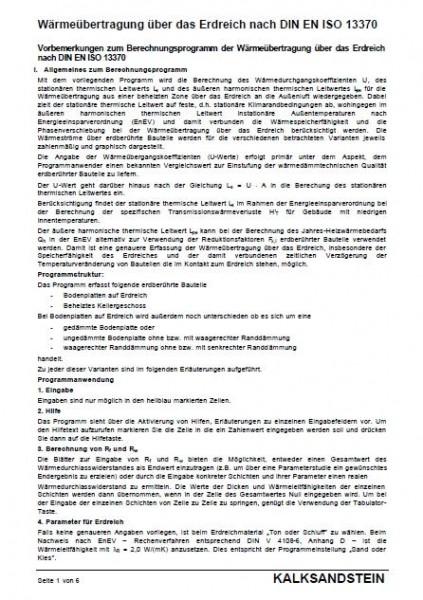 KS-Nachweisprogramm | Erdberührte Bauteile