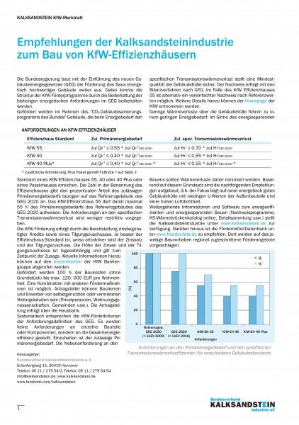 Empfehlungen zum Bau von KfW-Effizienzhäusern