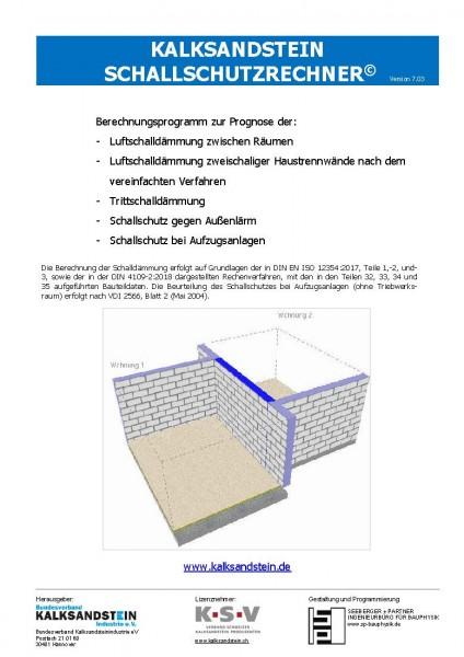 KS-Schallschutzrechner | Version 7.03