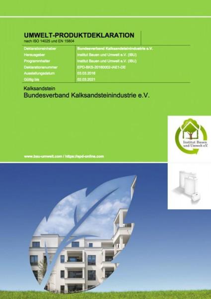 Umwelt-Produktdeklaration nach ISO 14025